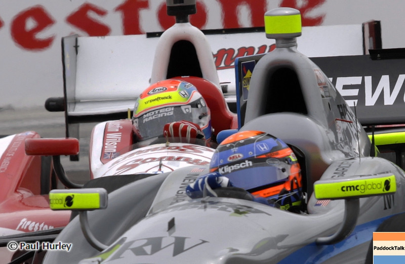 March 24: Josef Newgarden and Justin Wilson during the Honda Grand Prix of St. Petersburg IndyCar race.