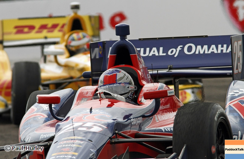 March 24: Marco Andretti and Ryan Hunter-Reay during the Honda Grand Prix of St. Petersburg IndyCar race.