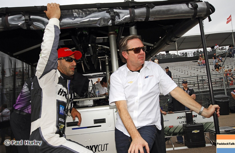 March 22: Tony Kanaan and Jimmy Vasser at IndyCar practice at the Honda Grand Prix of St. Petersburg.