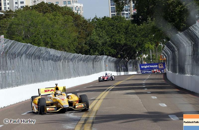 March 22: Graham Rahal at IndyCar practice at the Honda Grand Prix of St. Petersburg.