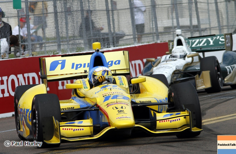 March 22: Anna Beatriz at IndyCar practice at the Honda Grand Prix of St. Petersburg.