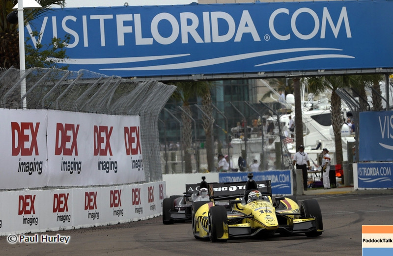 March 24: Graham Rahal during the Honda Grand Prix of St. Petersburg IndyCar race.