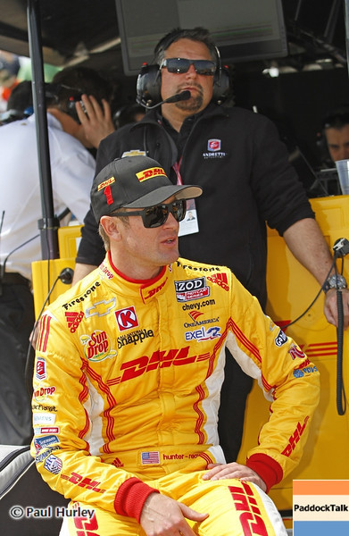 March 22: Ryan Hunter-Reay and Michael Andretti at IndyCar practice at the Honda Grand Prix of St. Petersburg.