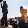 March 22: Michael Andretti and Ryan Hunter-Reay at IndyCar practice at the Honda Grand Prix of St. Petersburg.