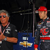 March 23: Mario Andretti and Marco Andretti during IndyCar qualifying at the Honda Grand Prix of St. Petersburg.