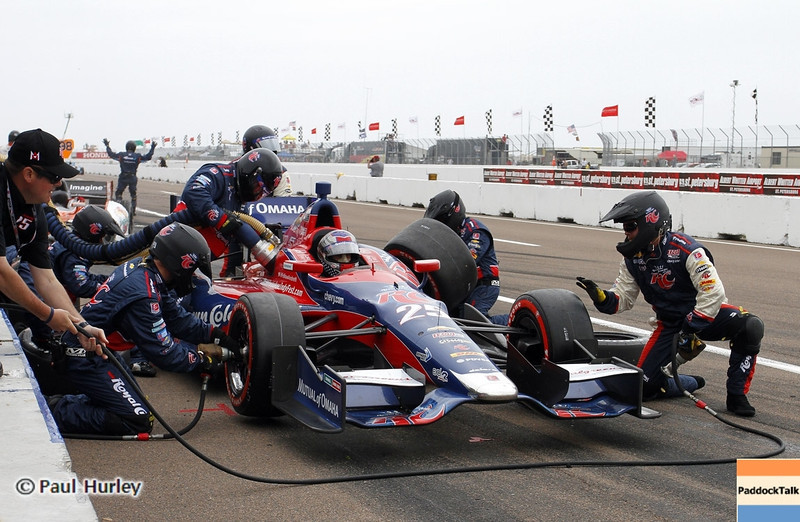 March 24: Marco Andretti pit stop during the Honda Grand Prix of St. Petersburg IndyCar race.