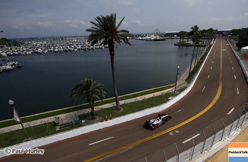 March 23: Turn 9 during IndyCar qualifying at the Honda Grand Prix of St. Petersburg.