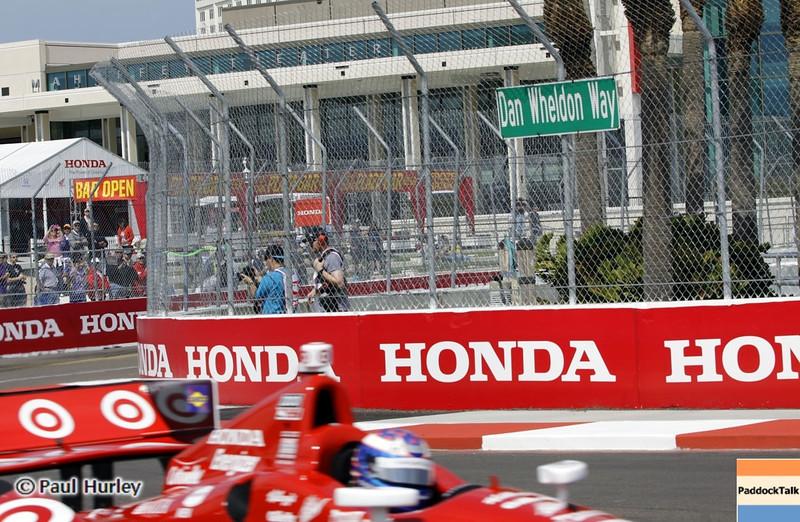 March 22: Dan Wheldon Way at IndyCar practice at the Honda Grand Prix of St. Petersburg.
