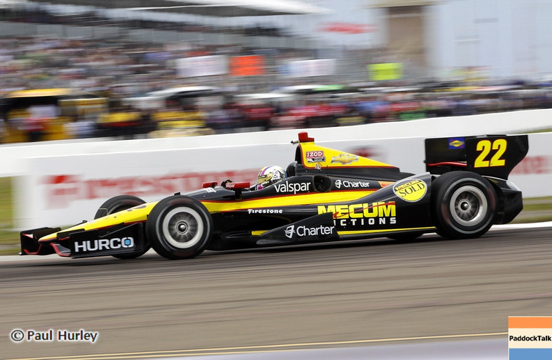 March 22: Oriol Servia at IndyCar practice at the Honda Grand Prix of St. Petersburg.