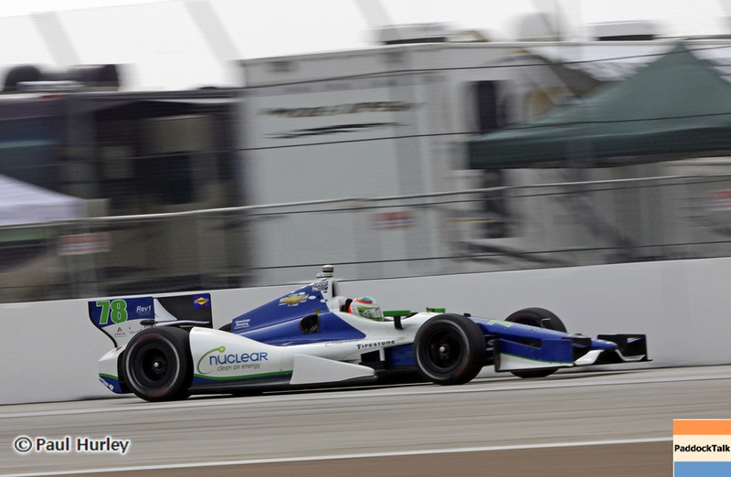March 23: Simona de Silvestro during IndyCar qualifying at the Honda Grand Prix of St. Petersburg.
