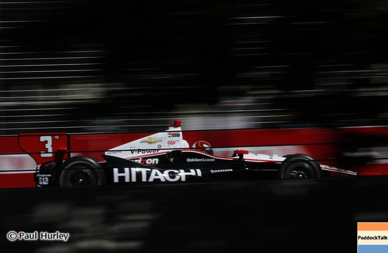 July 14: Helio Castroneves during the Indy Honda Toronto race.