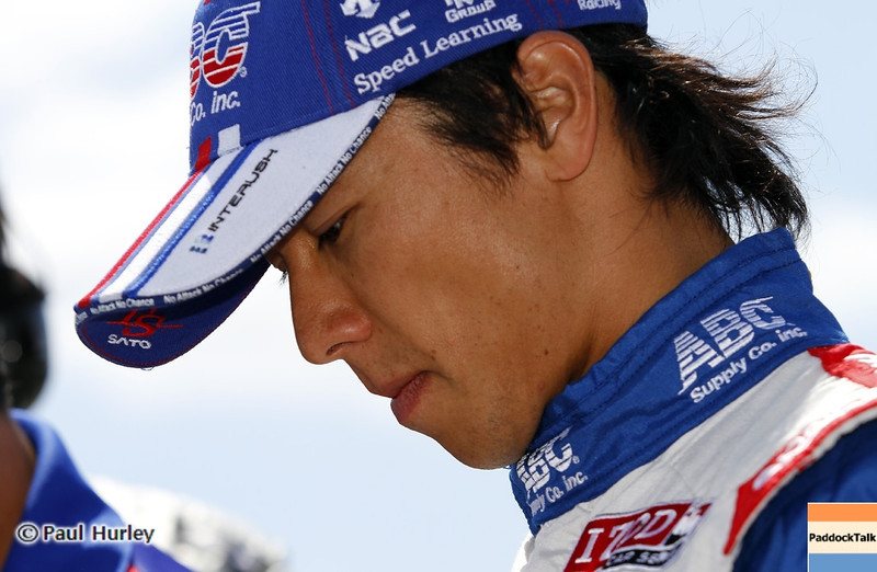 April 7: Takuma Sato before the Honda Grand Prix of Alabama IndyCar race at Barber Motorsports Park