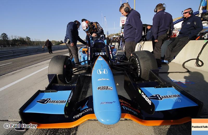 April 6: Alex Tagliani during qualifying for the Honda Grand Prix of Alabama at Barber Motorsports Park.