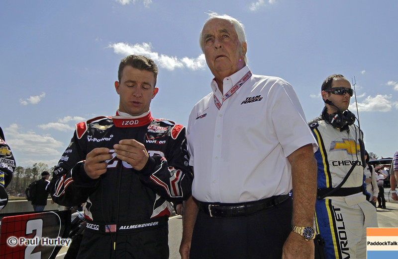 April 7: A.J. Allmendinger and Roger Penske before the Honda Grand Prix of Alabama IndyCar race at Barber Motorsports Park