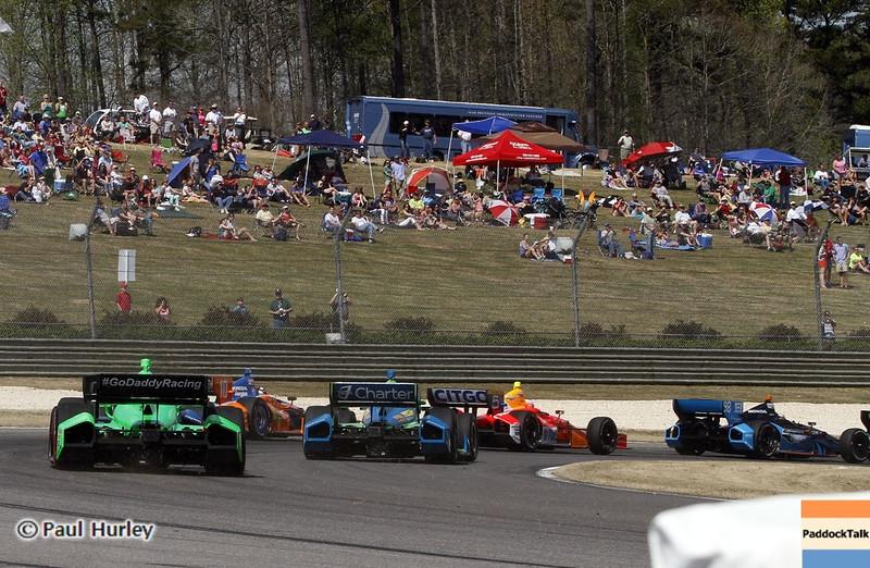 April 7: Track action during the Honda Grand Prix of Alabama IndyCar race at Barber Motorsports Park