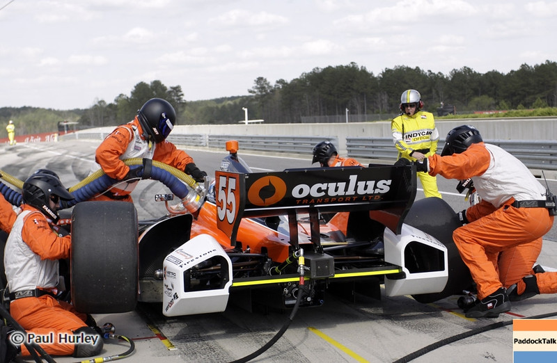 April 7: Tristan Vautier during the Honda Grand Prix of Alabama IndyCar race at Barber Motorsports Park