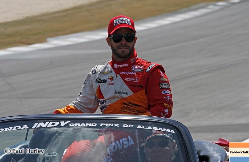 April 7: EJ Viso before the Honda Grand Prix of Alabama IndyCar race at Barber Motorsports Park