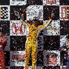 April 7: Ryan Hunter-Reay, the race winner of  the Honda Grand Prix of Alabama IndyCar race at Barber Motorsports Park