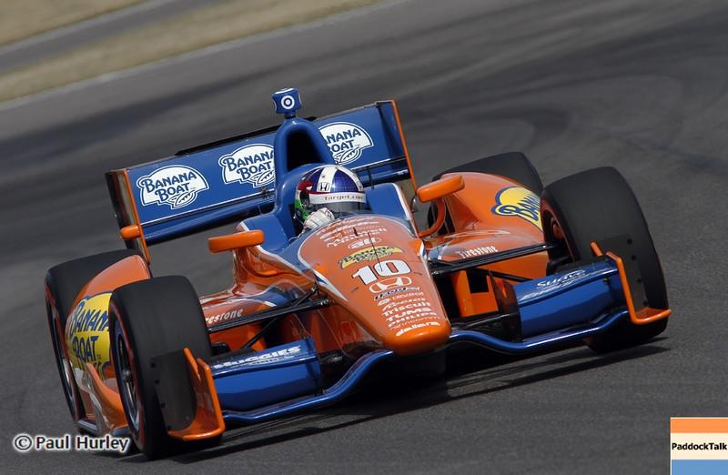 April 6:Dario Franchitti during qualifying for the Honda Grand Prix of Alabama at Barber Motorsports Park.