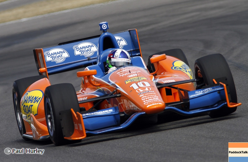 April 6: Dario Franchitti during qualifying for the Honda Grand Prix of Alabama at Barber Motorsports Park.