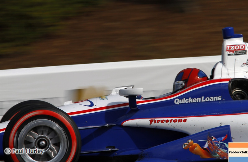 April 7: Helio Castroneves during the Honda Grand Prix of Alabama IndyCar race at Barber Motorsports Park