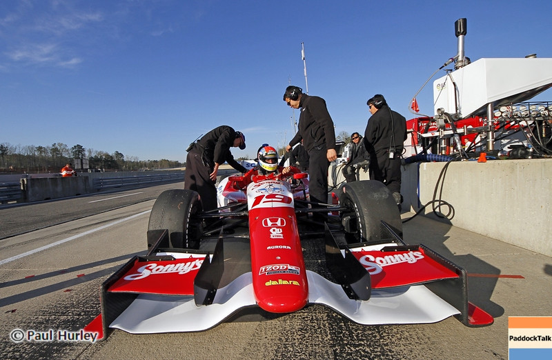 April 7: Justin Wilson before the Honda Grand Prix of Alabama IndyCar race at Barber Motorsports Park