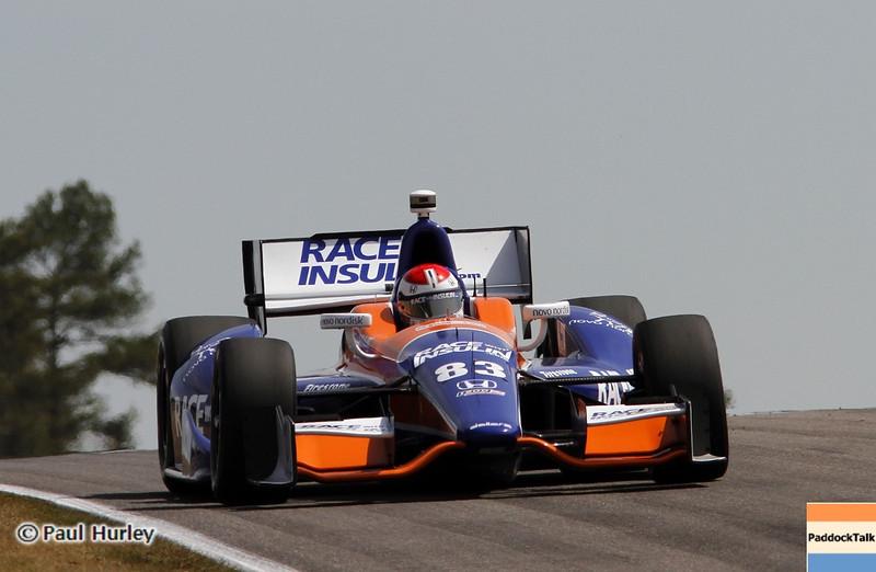 April 6: Charlie Kimball during qualifying for the Honda Grand Prix of Alabama at Barber Motorsports Park.