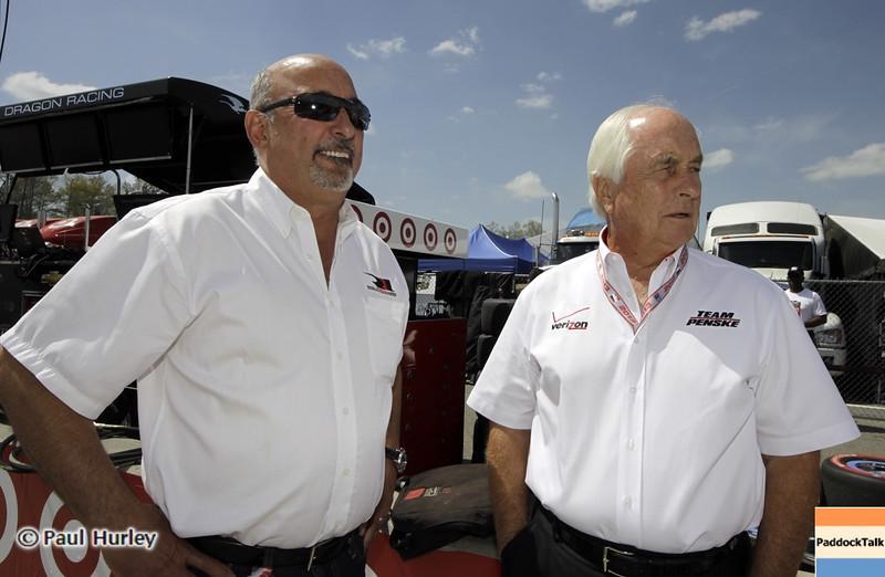 April 7: Bobby Rahal and Roger Penske before the Honda Grand Prix of Alabama IndyCar race at Barber Motorsports Park