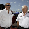 April 7: Bobby Rahal and Roger Penske before the Honda Grand Prix of Alabama IndyCar race at Barber Motorsports Park