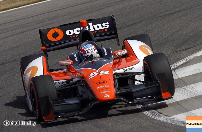 April 6: Tristan Vautier during qualifying for the Honda Grand Prix of Alabama at Barber Motorsports Park.