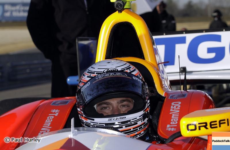 April 6: E.J. Viso during qualifying for the Honda Grand Prix of Alabama at Barber Motorsports Park.
