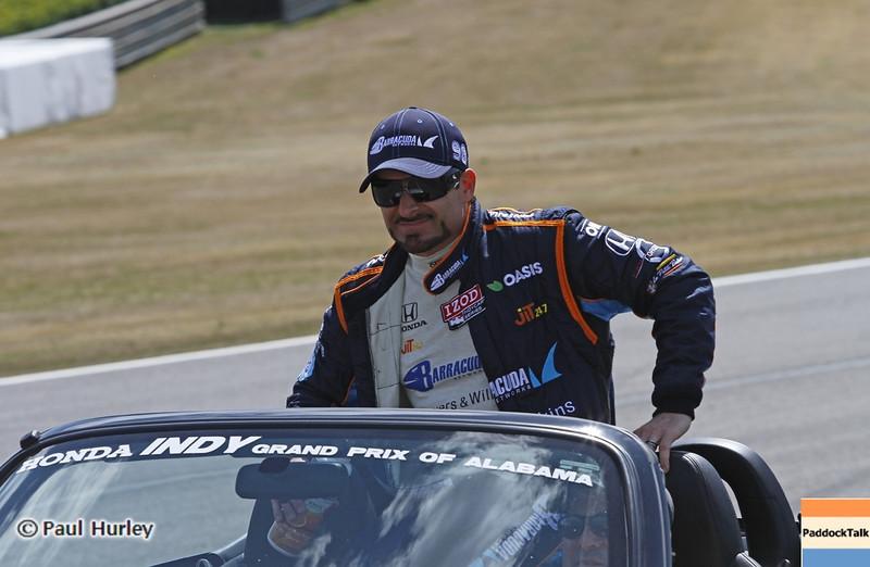 April 7: Alex Tagliani before the Honda Grand Prix of Alabama IndyCar race at Barber Motorsports Park