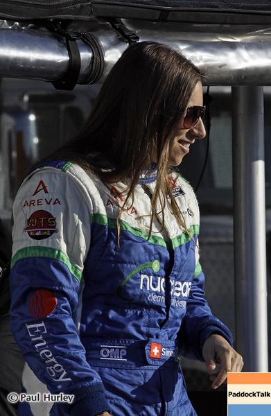 April 6: Simona de Silvestro during qualifying for the Honda Grand Prix of Alabama at Barber Motorsports Park.