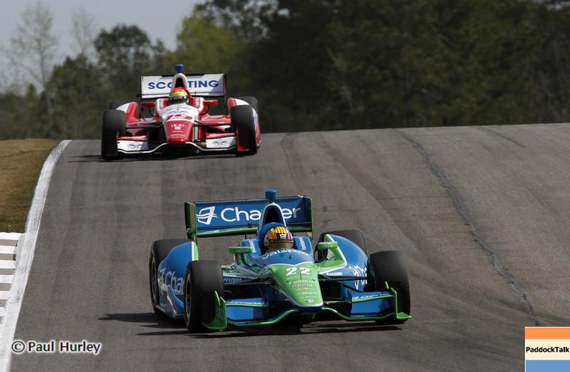 April 6: Oriol Servia Justin Wilson during qualifying for the Honda Grand Prix of Alabama at Barber Motorsports Park.