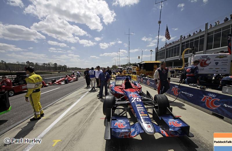 April 7: Marco Andretti before the Honda Grand Prix of Alabama IndyCar race at Barber Motorsports Park