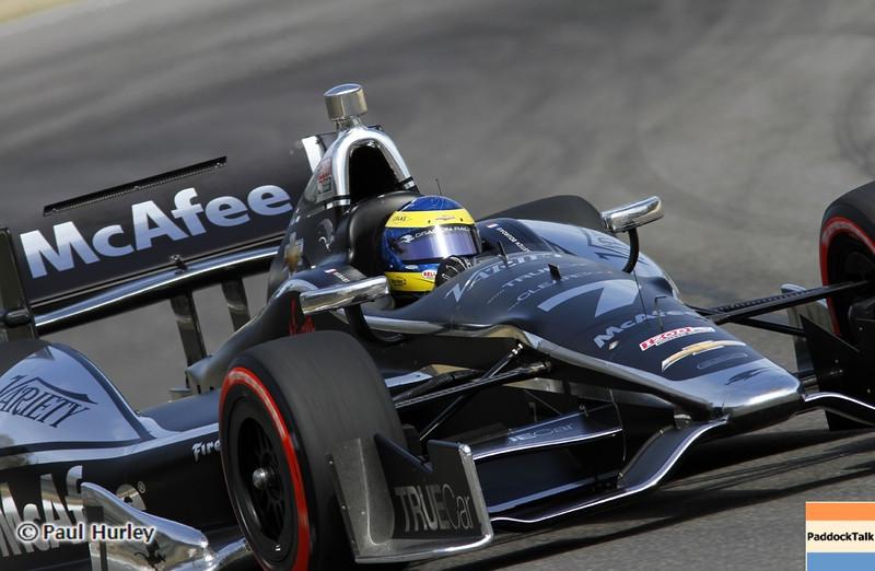 April 6:  Sebastien Bourdais during qualifying for the Honda Grand Prix of Alabama at Barber Motorsports Park.