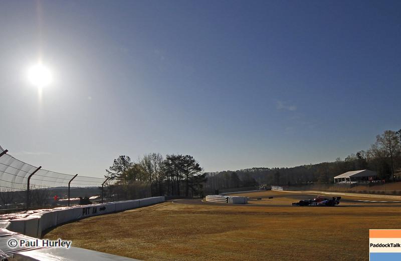 April 6: Pit in during qualifying for the Honda Grand Prix of Alabama at Barber Motorsports Park.