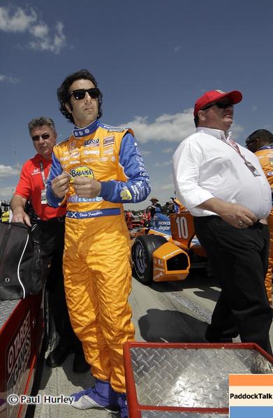 April 7: Dario Franchitti and Chip Ganassi before the Honda Grand Prix of Alabama IndyCar race at Barber Motorsports Park