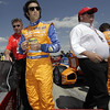 April 7: Dario Franchitti and Chip Ganassi before the Honda Grand Prix of Alabama IndyCar race at Barber Motorsports Park