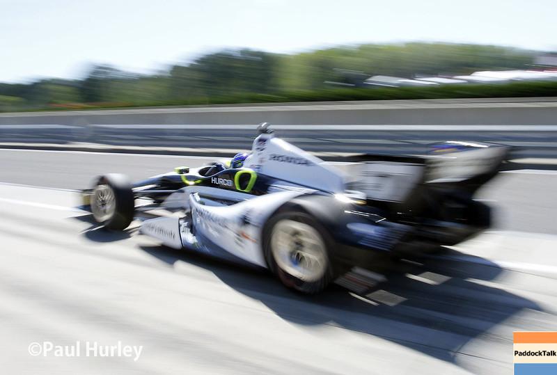 April 26: Josef Newgarden during qualifying for the Honda Grand Prix of Alabama.