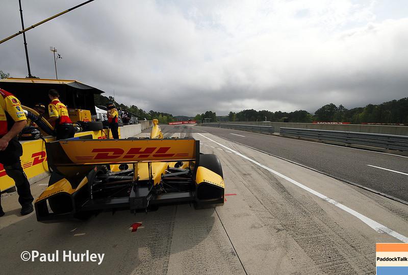 April 27: Pit lane during the Honda Grand Prix of Alabama.