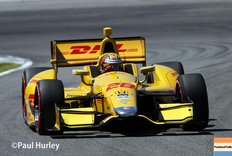 April 26: Ryan Hunter-Reay during qualifying for the Honda Grand Prix of Alabama.