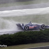 April 27: Wet conditions during the Honda Grand Prix of Alabama.