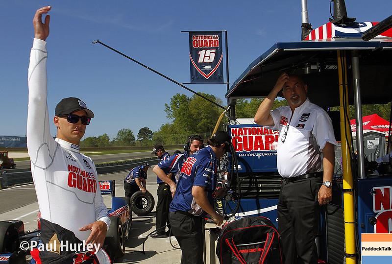 April 26: Graham and Bobby Rahal during qualifying for the Honda Grand Prix of Alabama.
