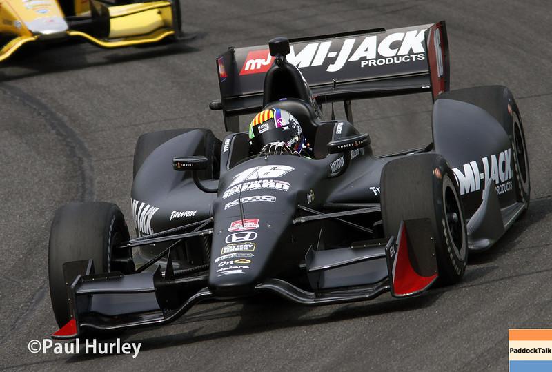 April 27: Oriol Servia during the Honda Grand Prix of Alabama.
