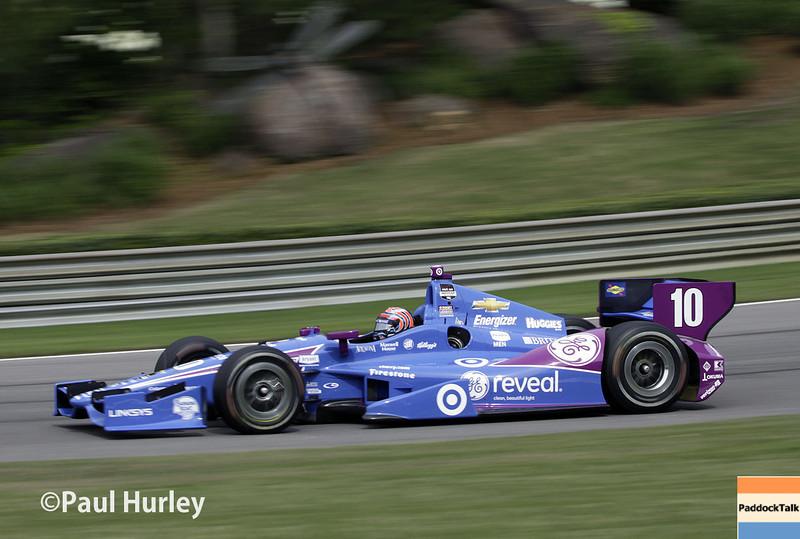 April 27: Tony Kanaan during the Honda Grand Prix of Alabama.