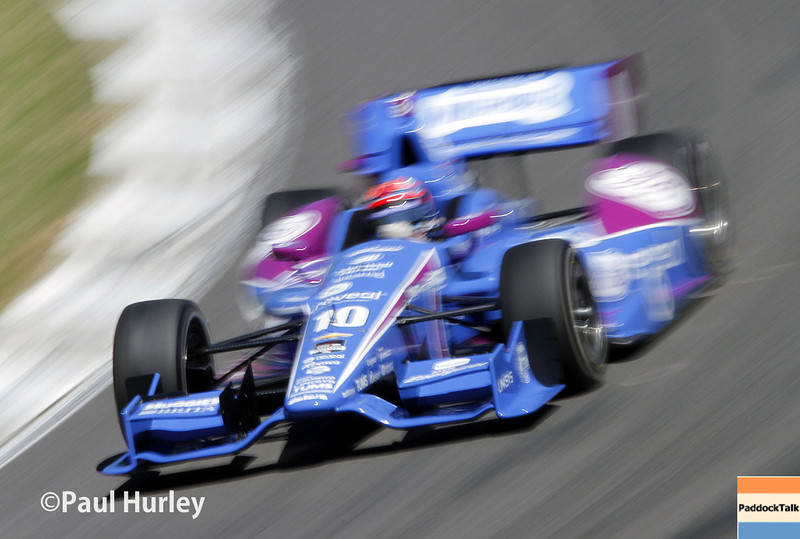 April 26: Tony Kanaan during qualifying for the Honda Grand Prix of Alabama.