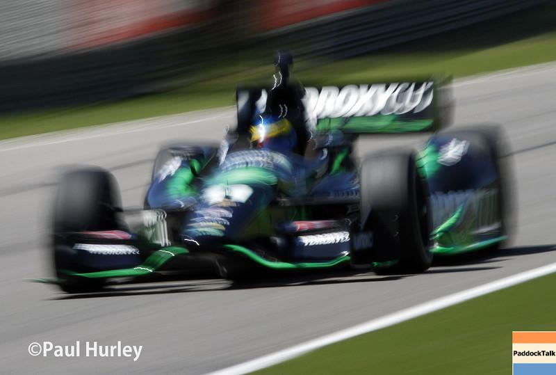 April 26: Sebastien Bourdais during qualifying for the Honda Grand Prix of Alabama.