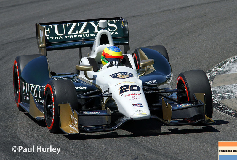 April 26: Mike Conway during qualifying for the Honda Grand Prix of Alabama.
