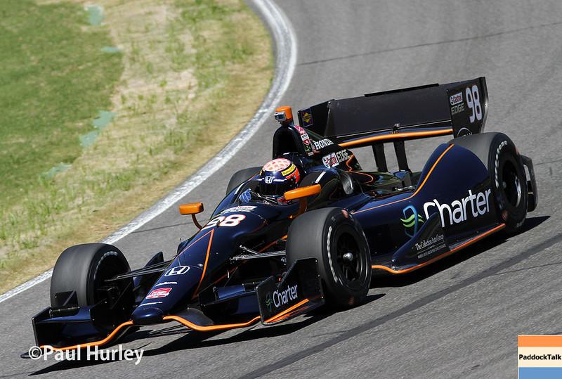 April 26: Jack Hawksworth during qualifying for the Honda Grand Prix of Alabama.